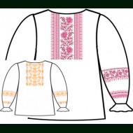 Сорочка для девочки под вышивку крестиком