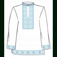 Сорочка мужская под вышивку крестом белая