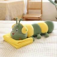 Гусеница. Плед, игрушка, подушка - 3 в 1