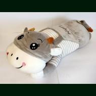 Коровка в тельняшке. Плед, игрушка, подушка
