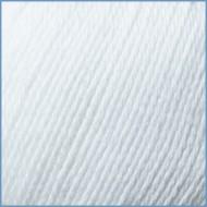 Пряжа с хлопком Valencia Color Jeans 001 (White)