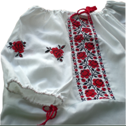Сорочка женская под вышивку крестиком белая